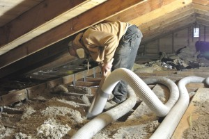We vac out any old attic insulation
