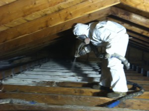 Air sealing the attic
