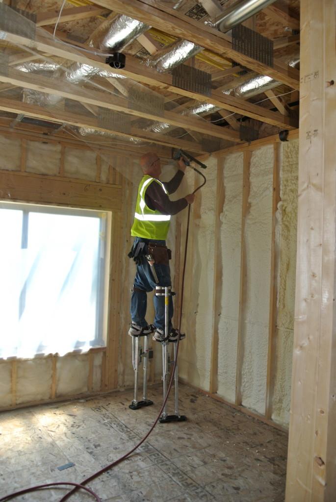 Blow in insulation for sound deadening