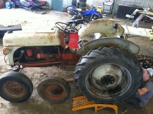 Ford Tractor with Tracks