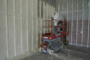 Spray foam insulation at Pawn America, completed September, 2013
