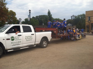 Waseca Soccer Team in the homecoming parade