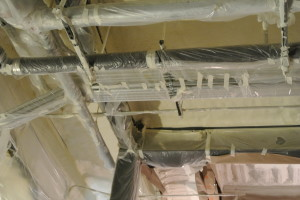 One of the benefits of spray foam insulation is its ability to conform to unique architectural characters of a building project.