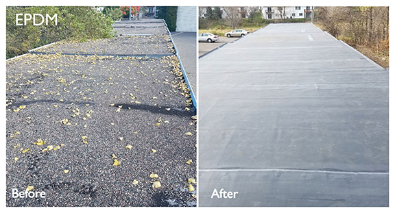 Before & After: EPDM Roof Replacement
